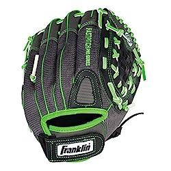Franklin Sports Fastpitch Series 12-inch Lightweight Softball Glove, Limegray, Right Hand