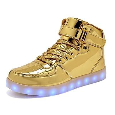Women Men Light up Shoes Flashing LED Luminous High Top walking Sneakers 11 Colors USB charging