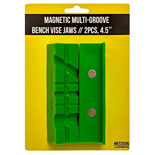 [해외]Vise Jaws Vise Pads (자성 다중 그루브 소프트 조우) - 4.5 인치 길이, TPU 죠우 커버 - 다양한 종류의 바이 세스 바이스 및 바이스 블록 맞춤/Vise Jaws   Vise Pads (Magnetic Multi-Groove Soft Jaws) - 4.5 Inch Length, TPU Jaw Covers - Fit ...