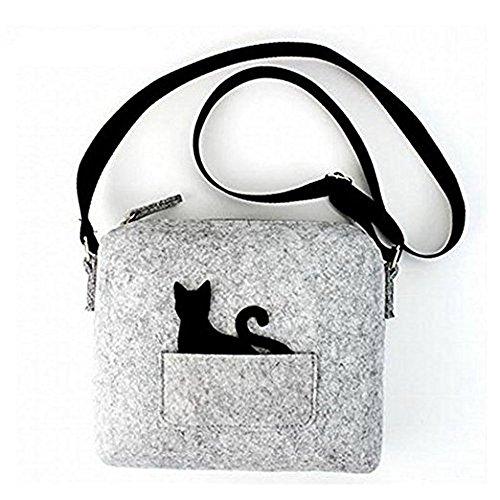 147531d4f689 New Cat Small Bags Cat Felt Cross-body Shoulder Bag Purse for Girls and  Ladies