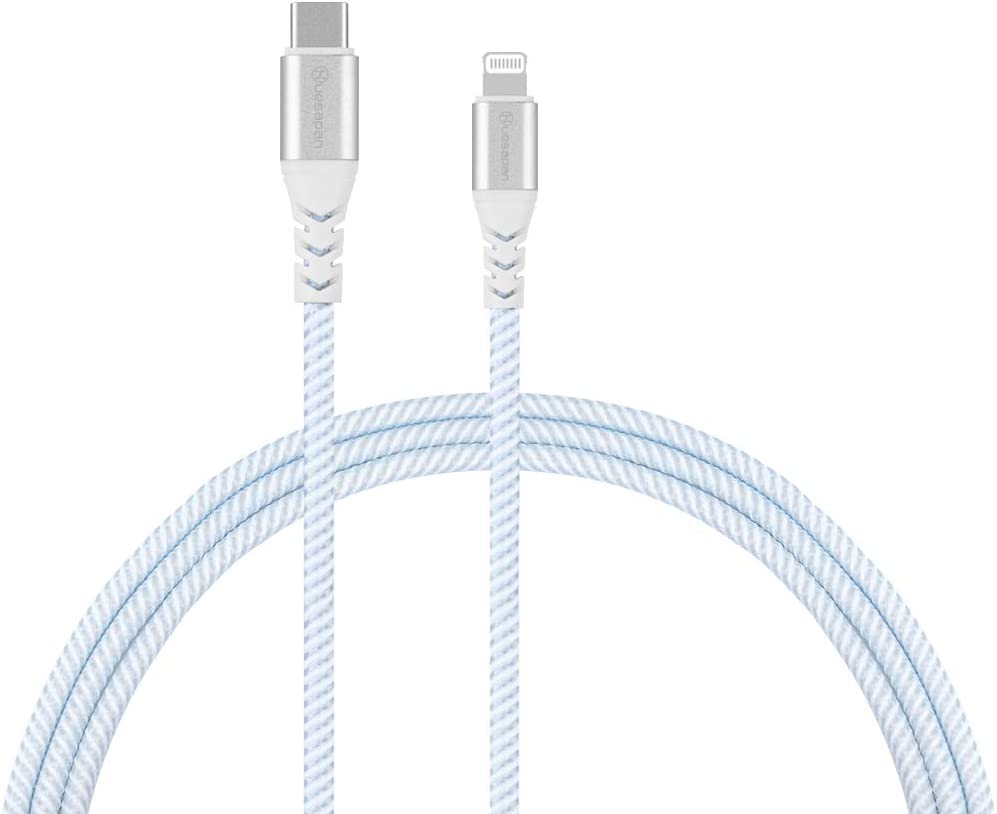iPhone12 Charger Cable Huesapan USB C to Lightning [ 6.6ft MFi Certified] Nylon Braided Cable Compatible with iPhone 12/11/ Max/X/XS/XR/XS Max/8/iPad/Supports Power Delivery (with Type C Chargers)