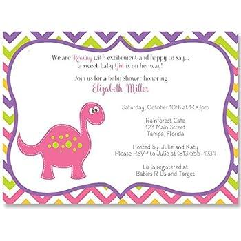 Amazon baby shower invitations dinosaur baby girl its a baby shower invitations dinosaur baby girl its a girl white pink filmwisefo