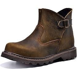Z.SUO Men's Leather Classic Boot