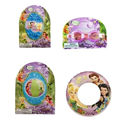 Amazon.com Disney Tinkerbell Summer Fun Pool Set - Goggles Beach Ball Swim Ring Arm Floats Toys u0026 Games  sc 1 st  Amazon.com & Amazon.com: Disney Tinkerbell Summer Fun Pool Set - Goggles Beach ...