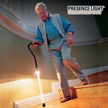 Andador - Bastón con LED de luz - Aluminio y Plástico ...