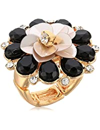 Womens Flower Cocktail Ring