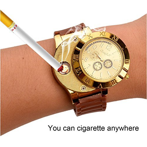 New Military USB Lighter Watch Men