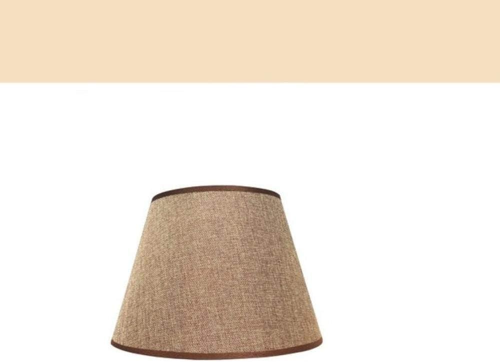 Pantalla Para Lámpara DeRopa de dormitorio dormitorio sala de lino marrón lámpara de pie lámpara de noche accesorios de pantalla-26 cm: Amazon.es: Iluminación