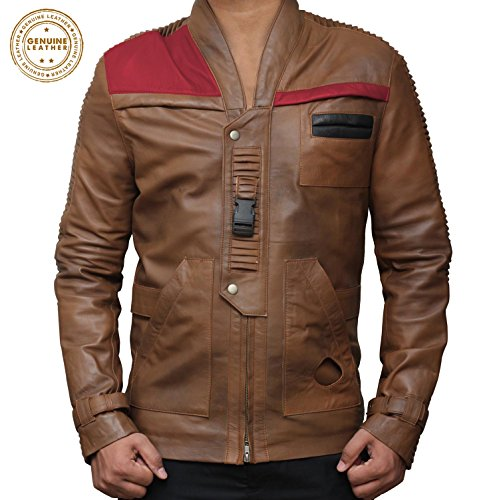 Decrum Distressed Vintage Lambskin Leather Jacket | Chocolate Brown, M