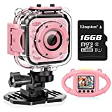 VanTop Junior K3 Kids Camera, 1080P Supported Waterproof Video Camera w/ 16Gb Memory