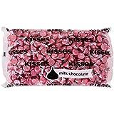 Kisses Milk Chocolate, Pink Foils, 66.7 Ounce