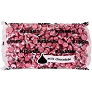 Hershey's KISSES Milk Chocolate Pink Easter Egg Filler Bulk Candy, approx. 400 Pieces