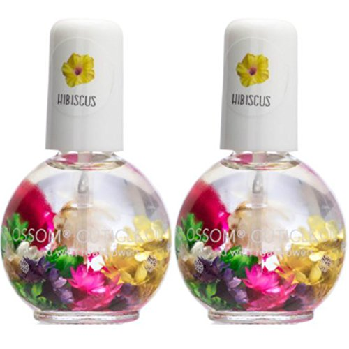 Blossom Cuticle Oil 0.5oz - (Pack of 2 - Hibiscus) Hibiscus Blossom