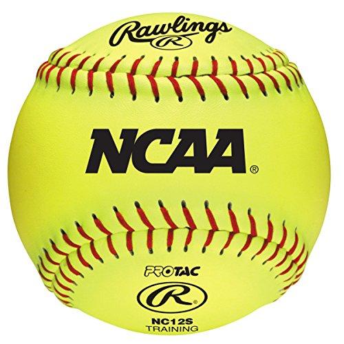 Fastpitch Softballs Ncaa (Rawlings Raised Seam Recreational Training Softballs, NCAA League, Box of 12)