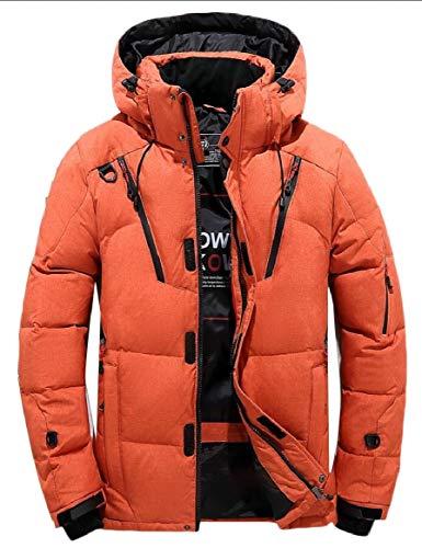 security Men Hooded Jacket Warm Cotton Jacket Zipper Athletic Outdoor Coat Orange