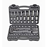 Pittsburgh 64 Pc 1/4 in, 3/8 in, 1/2 in. Drive SAE & Metric Socket Set
