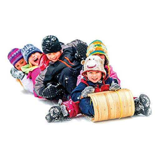 Flexible Flyer Wood Toboggan. Snow Sled Adults Kids