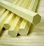 "1"" Hexagon Dowel Rod - Qty. 6 (six) Poplar Rods"