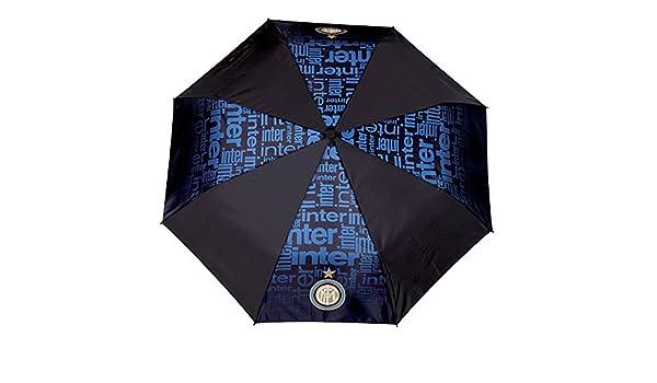Paraguas plegable hombre aut. color uniforme+marca FC Inter: Amazon.es: Equipaje