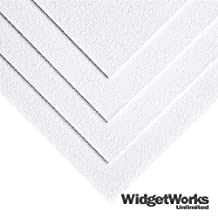 """WHITE ABS Thermoform Plastic Sheets 1/8"""" x 12"""" x 12"""" Sheets - 8 Piece Bundle by WidgetWorks Unlimited LLC."""