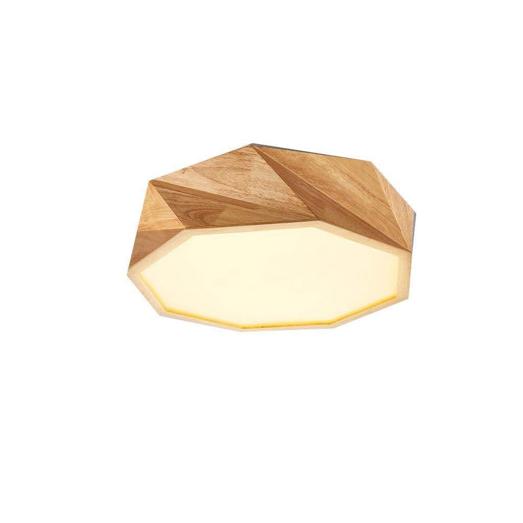 JJSFJH LEDシーリングライト、同等の32W白熱電球、北欧の木製ランプ幾何学的形状のバスルーム用照明、キッチン、廊下、フラッシュマウントシャンデリアシーリングライト (版 ばん : Style E) B07Q9J3WYC  Style E