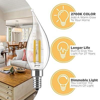 LED Filament Candelabra Bulbs