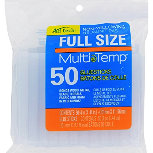 Price comparison product image Ad-Tech 14ZIP50 Multi Temp Glue Stick (4 x 0.44-Inch),  Pack of 50