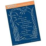 Groovi Plate ~ Serenity Prayer A5 Template, GRO40519
