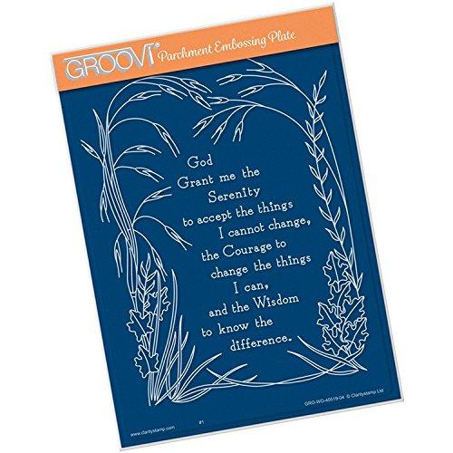 Groovi Plate ~ Serenity Prayer A5 Template, GRO40519 by Groovi