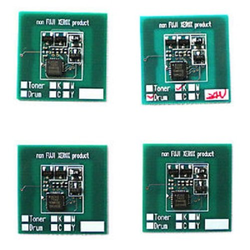 NEW ERA TONER - 4 x Toner Reset Chip for Xerox DocuColor 240, 242, 250, 252, 260, WorkCentre 7655, 7665, 7675 (6R1219, 6R1222, 6R1221, 6R1220) Printer Refill -  NET-X240-CH