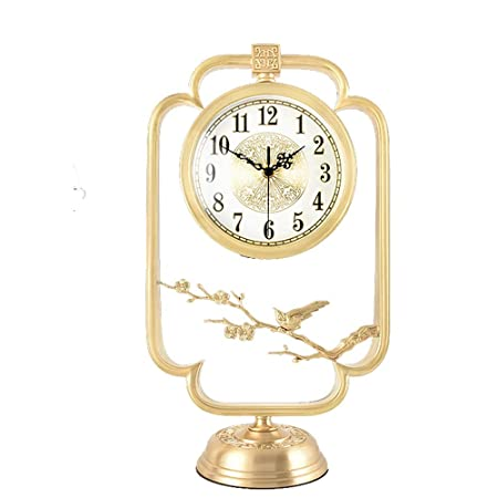 Dfghbn Reloj de Mesa de latón clásico Reloj de Tabla Decorativo de ...