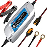 ERAYAK Car Battery Smart Charger and Maintainer 5 Amp 12V Fully Automatic 8-Stage Charging for Car Boat Truck Lawn Mower Marine Sealed Lead Acid Battery