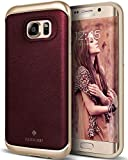 Caseology Envoy for Galaxy S7 Edge Case (2016) - Premium Leather - Leather Cherry Oak