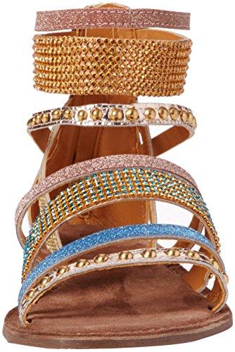 Lotus Wren - Sandalias de tobillo Mujer Gold (gold Multi)