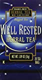 Trader Joe's Herbal Tea Well Rested No Caffeine 20 Bags For Sale