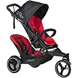 phil&teds Dot Inline Stroller with Second Seat, Chili