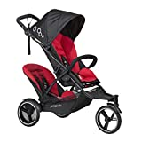 phil&teds Dot Inline Stroller with Second Seat - Chili