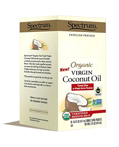 Banana Coconut Oil (Spectrum Naturals Organic Unrefined Virgin Coconut Oil Packets, 10 Count (Pack of 3))