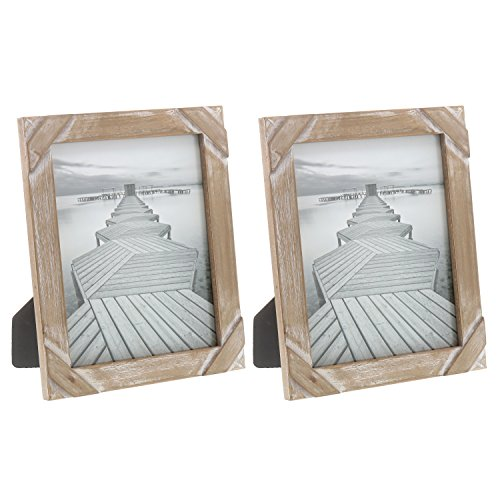 "Design Photo Frame - Barnyard Designs Rustic Farmhouse Distressed Picture Frame 8"" x 10"