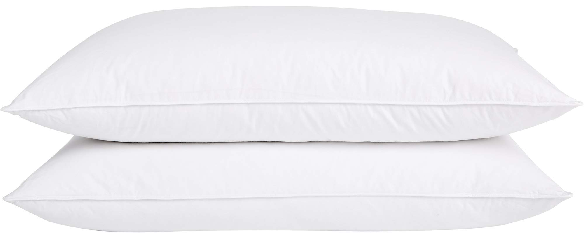 puredown Natural Goose Down Pillows 100% Cotton Pillow Cover Set of 2 Bed Pillows for Sleeping King Size