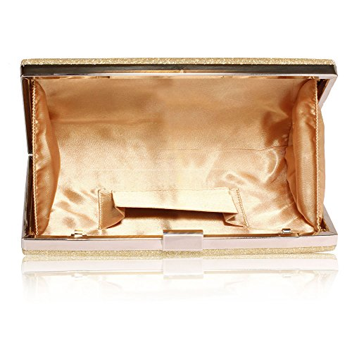 ANNA GRACE - Cartera de mano de Material Sintético para mujer Design 1 - Gold