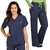 Med Couture Women's Scrub Set X-Large Navy/Apple