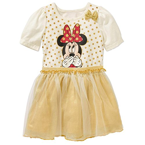 Disney Junior Minnie Mouse Toddler Girl Tutu Dress With 3D Bow (3T)]()