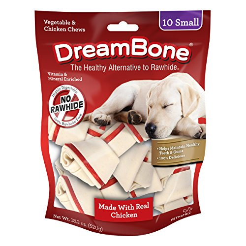 (Dreambone Vegetable & Chicken Dog Chews, Rawhide Free, Small, 10-Count)