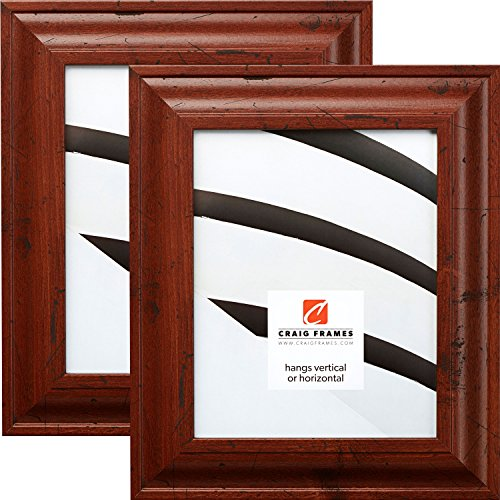 Craig Frames 76004 5 x 7 Inch Picture Frame, Rustic Brown, Set of 2
