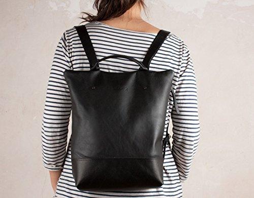 Mochila negra, mochila anti robo, mochila artesana, mochilas cuero, mochila piel negra
