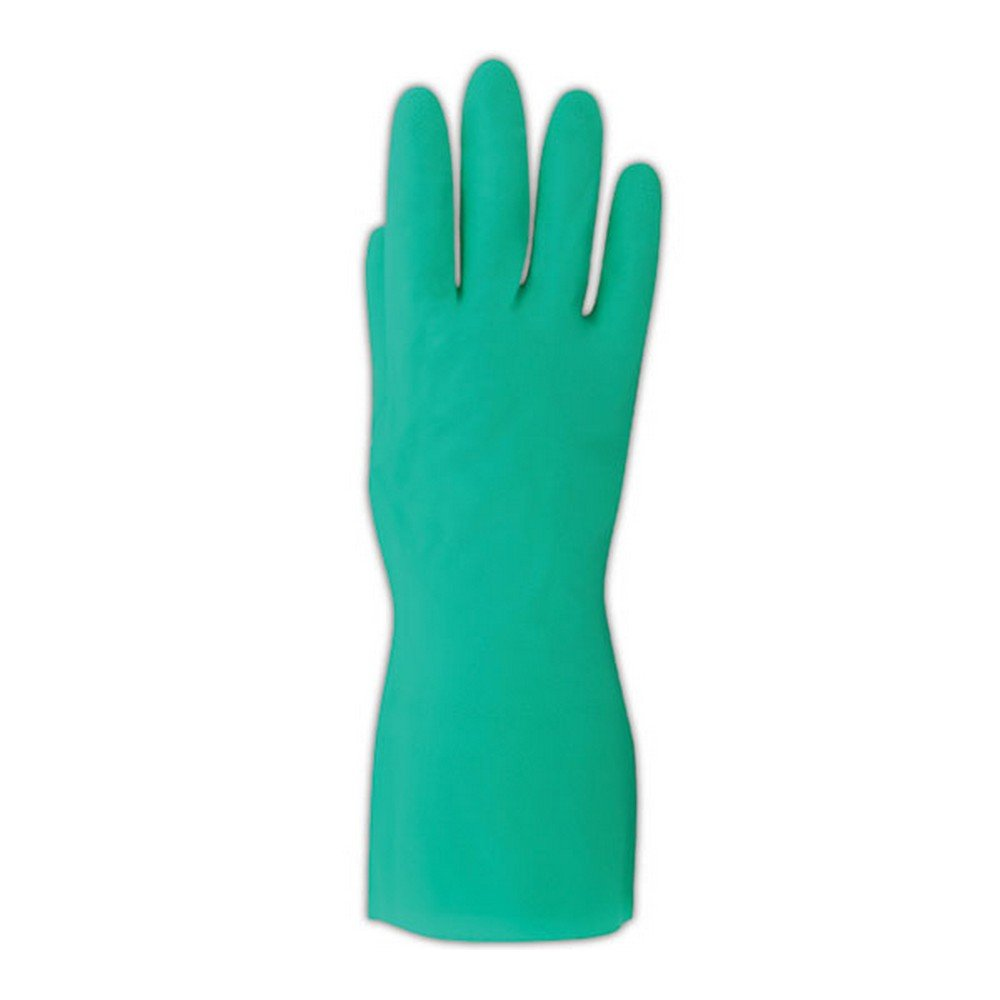 MAPA StanSolv A-15 Nitrile Mediumweight Glove, Chemical Resistant, 0.015'' Thickness, 13'' Length, Size 10, Green (Bag of 12 Pairs)