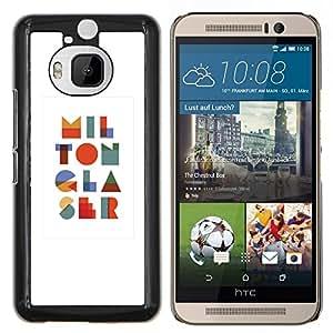 TECHCASE---Cubierta de la caja de protección para la piel dura ** HTC One M9+ M9 Plus ** --Arte Moderno colorido I L O N R S
