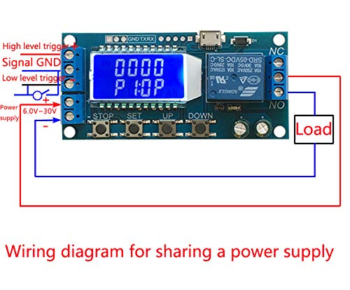 XY-LJ02 Timer Relay Delay Switch Module Input//Output Switch Time-Delayed Trigger Cycle Timing Circuit Switch