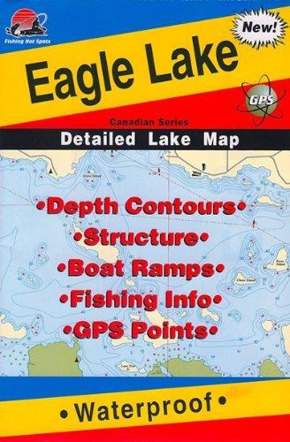 Eagle Lake Ontario Fishing Map Amazon.: Fishing Hot Spots Map of Eagle Lake : Outdoor